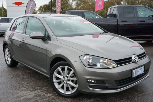 Used Volkswagen Golf VII 110TDI DSG Highline, 2013 Volkswagen Golf VII 110TDI DSG Highline Grey 6 Speed Sports Automatic Dual Clutch Hatchback