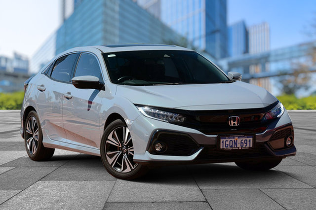 Used Honda Civic 10th Gen MY17 VTI-LX, 2017 Honda Civic 10th Gen MY17 VTI-LX Sonic Grey 1 Speed Constant Variable Hatchback