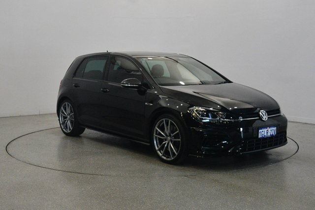 Used Volkswagen Golf 7.5 MY18 R DSG 4MOTION Wolfsburg Edition, 2017 Volkswagen Golf 7.5 MY18 R DSG 4MOTION Wolfsburg Edition Deep Black Pearl Effect 7 Speed