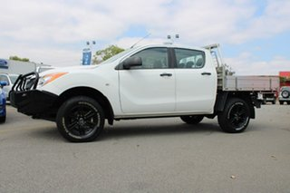 2014 Mazda BT-50 UP0YF1 XT White 6 Speed Manual Cab Chassis