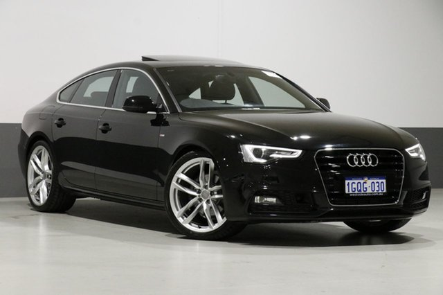 Used Audi A5 8T MY16 Sportback 3.0 TDI Quattro, 2016 Audi A5 8T MY16 Sportback 3.0 TDI Quattro Black 7 Speed Auto Direct Shift Hatchback