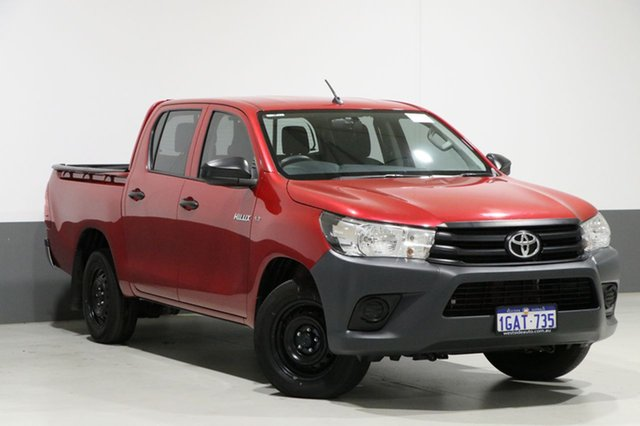 Used Toyota Hilux TGN121R Workmate, 2016 Toyota Hilux TGN121R Workmate Red 6 Speed Automatic Dual Cab Utility