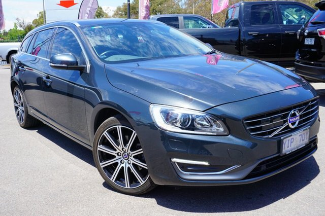 Used Volvo V60 F Series MY14 T5 PwrShift Luxury, 2013 Volvo V60 F Series MY14 T5 PwrShift Luxury Grey 6 Speed Sports Automatic Dual Clutch Wagon