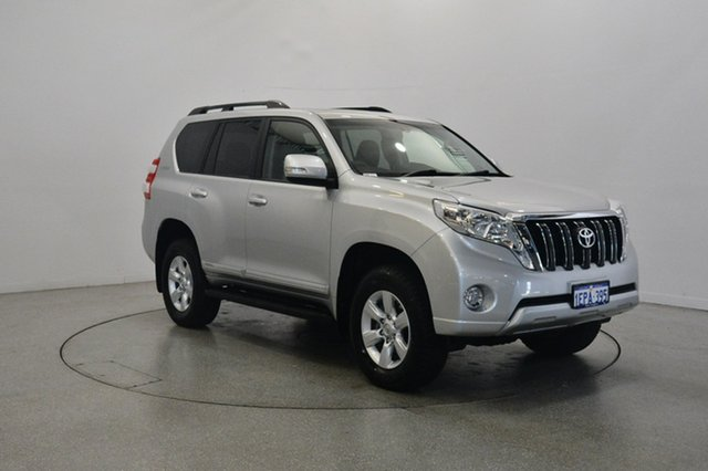 Used Toyota Landcruiser Prado KDJ150R MY14 Altitude, 2014 Toyota Landcruiser Prado KDJ150R MY14 Altitude Silver 5 Speed Sports Automatic Wagon