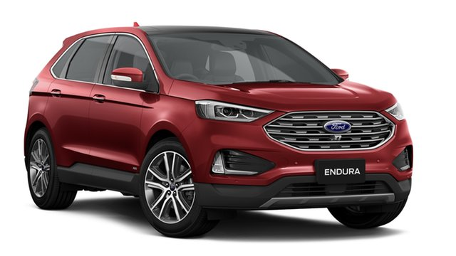 New Ford Endura CA 2019MY Titanium SelectShift AWD, 2018 Ford Endura CA 2019MY Titanium SelectShift AWD Ruby Red 8 Speed Sports Automatic Wagon