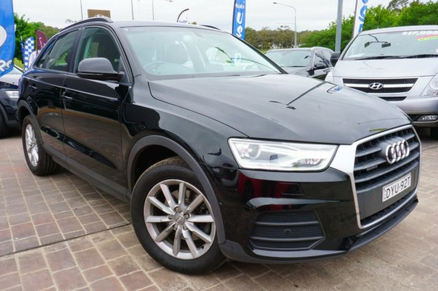 Used Audi Q3 8U MY15 TDI S tronic quattro, 2015 Audi Q3 8U MY15 TDI S tronic quattro Black 7 Speed Sports Automatic Dual Clutch Wagon
