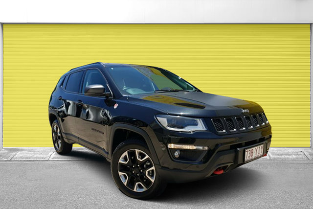 Used Jeep Compass M6 MY18 Trailhawk, 2017 Jeep Compass M6 MY18 Trailhawk Black Pearl 9 Speed Automatic Wagon
