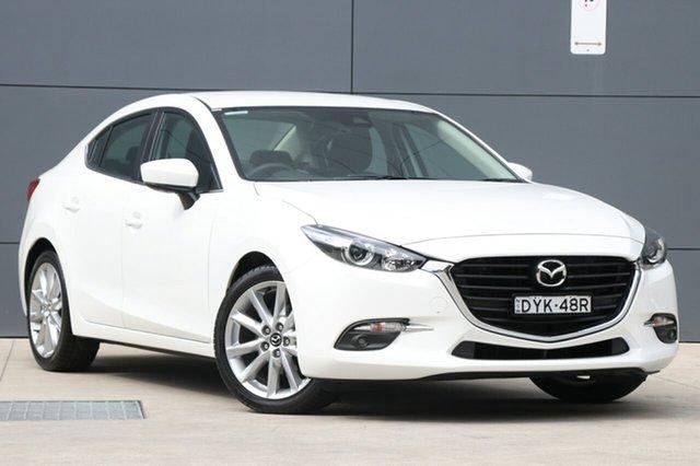 Demo Mazda 3 BN5238 SP25 SKYACTIV-Drive, 2018 Mazda 3 BN5238 SP25 SKYACTIV-Drive Snowflake White 6 Speed Sports Automatic Sedan