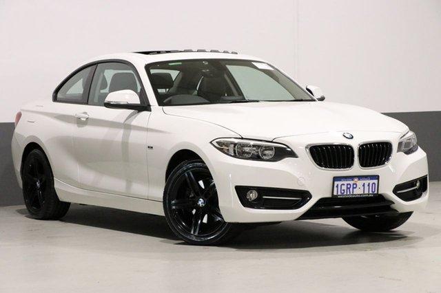 Used BMW 220i F22 MY15 , 2015 BMW 220i F22 MY15 White 8 Speed Automatic Coupe