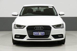 2013 Audi A4 B8 (8K) MY13 3.0 TDI White CVT Multitronic Sedan.