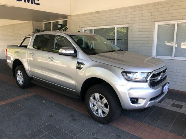 Demo Ford Ranger PX MkIII 2019.00MY XLT Pick-up Double Cab, 2018 Ford Ranger PX MkIII 2019.00MY XLT Pick-up Double Cab Ingot Silver 10 Speed Sports Automatic