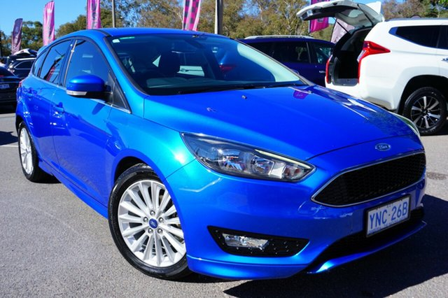 Used Ford Focus LZ Sport, 2017 Ford Focus LZ Sport Blue 6 Speed Automatic Hatchback