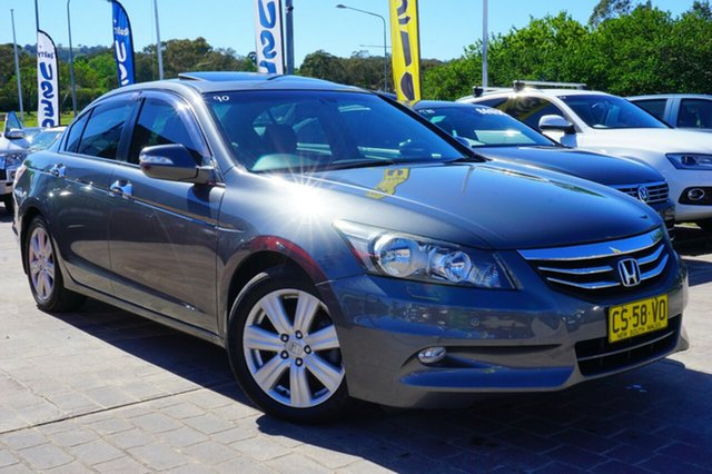 Used Honda Accord 8th Gen MY12 V6 Luxury, 2013 Honda Accord 8th Gen MY12 V6 Luxury Grey 5 Speed Sports Automatic Sedan