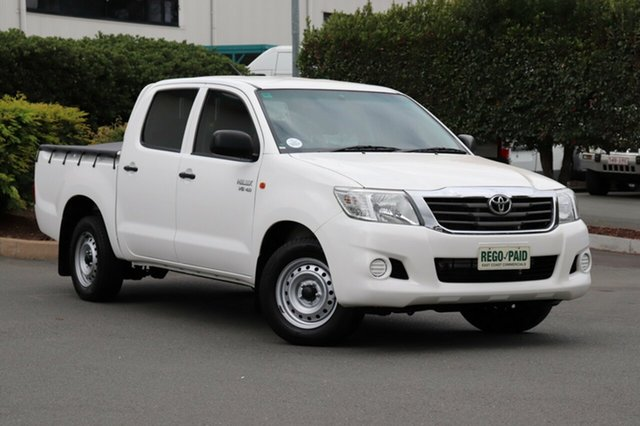 Used Toyota Hilux GGN15R MY14 SR Double Cab 4x2, 2014 Toyota Hilux GGN15R MY14 SR Double Cab 4x2 Glacier 5 Speed Automatic Utility
