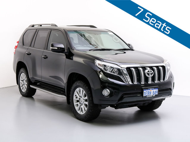 Used Toyota Landcruiser Prado KDJ150R MY14 VX (4x4), 2015 Toyota Landcruiser Prado KDJ150R MY14 VX (4x4) Black 5 Speed Sequential Auto Wagon
