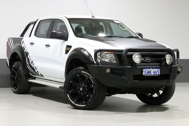 Used Ford Ranger PX XL 3.2 (4x4), 2014 Ford Ranger PX XL 3.2 (4x4) White 6 Speed Automatic Dual Cab Chassis