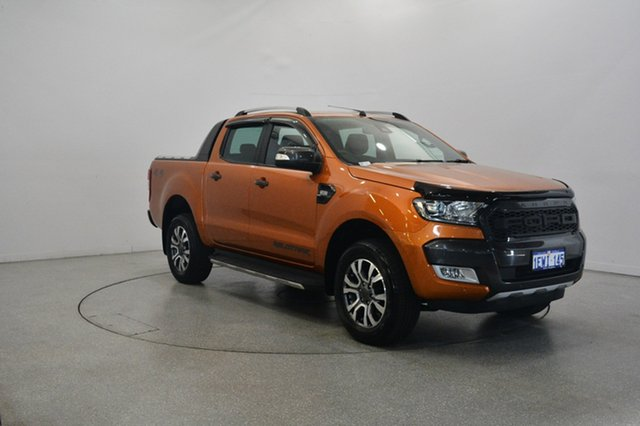 Used Ford Ranger PX MkII Wildtrak Double Cab, 2015 Ford Ranger PX MkII Wildtrak Double Cab Orange 6 Speed Manual Utility