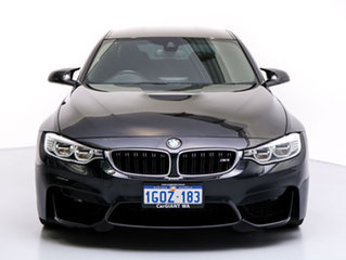 2015 BMW M3 F80 MY15 Black 7 Speed Auto Dual Clutch Sedan.