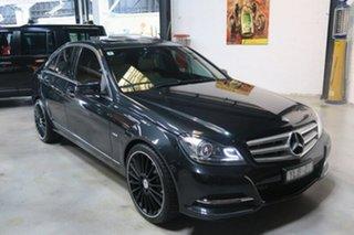 2011 Mercedes-Benz C250 W204 MY11 BlueEFFICIENCY 7G-Tronic + Avantgarde Black 7 Speed.