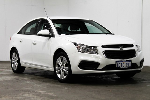 Used Holden Cruze JH Series II MY16 Equipe, 2015 Holden Cruze JH Series II MY16 Equipe White 6 Speed Sports Automatic Sedan