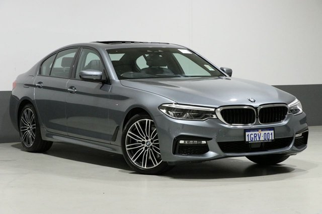Used BMW 530i G30 MY18 M Sport, 2018 BMW 530i G30 MY18 M Sport Bluestone 8 Speed Automatic Sedan