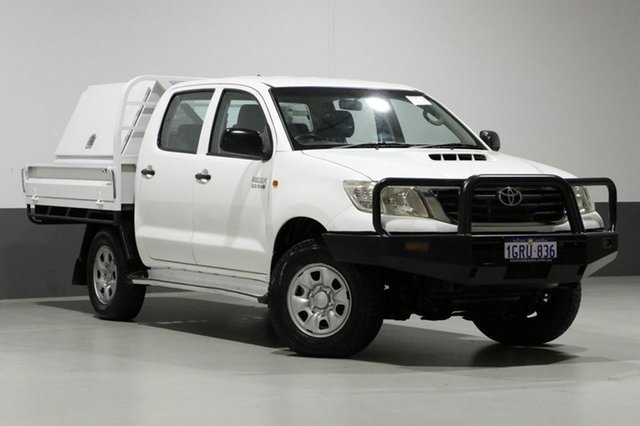 Used Toyota Hilux KUN26R MY12 SR (4x4), 2012 Toyota Hilux KUN26R MY12 SR (4x4) White 5 Speed Manual Dual Cab Pick-up