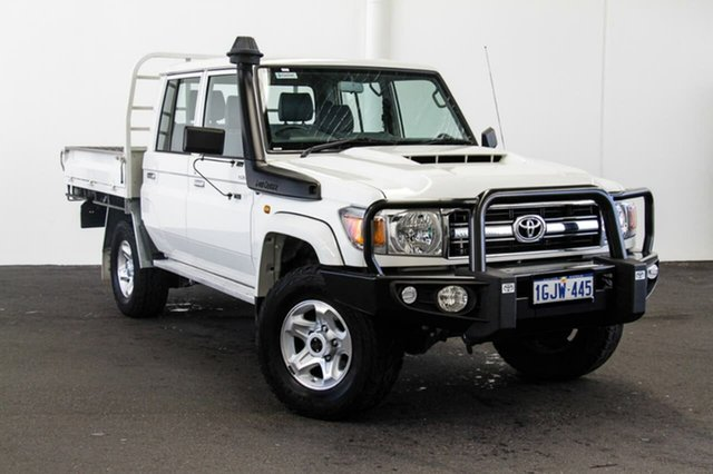 Used Toyota Landcruiser VDJ79R GXL Double Cab, 2017 Toyota Landcruiser VDJ79R GXL Double Cab French Vanilla 5 Speed Manual Cab Chassis