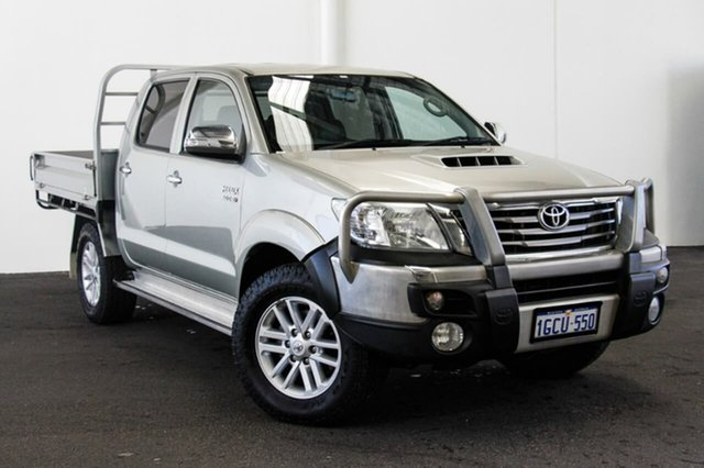 Used Toyota Hilux KUN26R MY12 SR5 Double Cab, 2013 Toyota Hilux KUN26R MY12 SR5 Double Cab Sterling Silver 4 Speed Automatic Utility