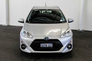 2017 Toyota Prius c NHP10R E-CVT Silver Pearl 1 Speed Constant Variable Hatchback Hybrid.