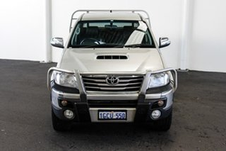 2013 Toyota Hilux KUN26R MY12 SR5 Double Cab Sterling Silver 4 Speed Automatic Utility.