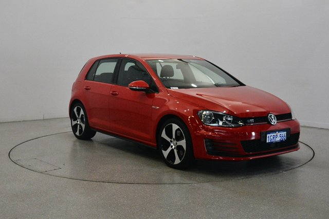 Used Volkswagen Golf VII MY14 GTI DSG, 2013 Volkswagen Golf VII MY14 GTI DSG Tornado Red 6 Speed Sports Automatic Dual Clutch Hatchback