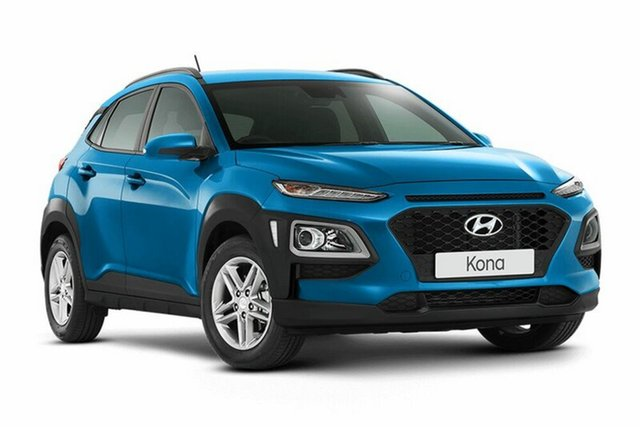 Demo Hyundai Kona OS MY18 Active D-CT AWD, 2018 Hyundai Kona OS MY18 Active D-CT AWD Blue Lagoon 7 Speed Sports Automatic Dual Clutch Wagon