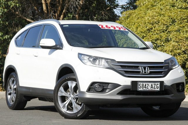 Used Honda CR-V RM MY14 DTi-L 4WD, 2014 Honda CR-V RM MY14 DTi-L 4WD White Orchid 5 Speed Sports Automatic Wagon