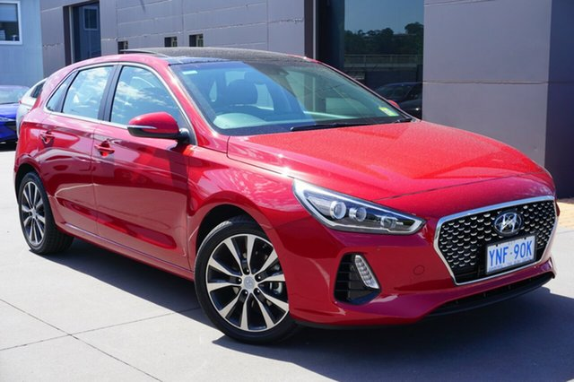 Demo Hyundai i30 PD2 MY18 Premium, 2018 Hyundai i30 PD2 MY18 Premium Fiery Red 6 Speed Sports Automatic Hatchback