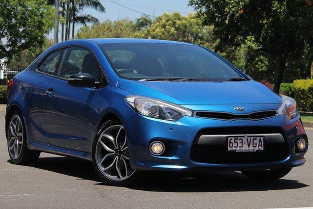Used Kia Cerato YD MY15 Koup Turbo, 2014 Kia Cerato YD MY15 Koup Turbo Blue 6 Speed Manual Coupe