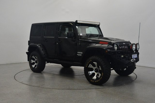 Used Jeep Wrangler JK MY2013 Unlimited Sport, 2013 Jeep Wrangler JK MY2013 Unlimited Sport Black 6 Speed Manual Softtop