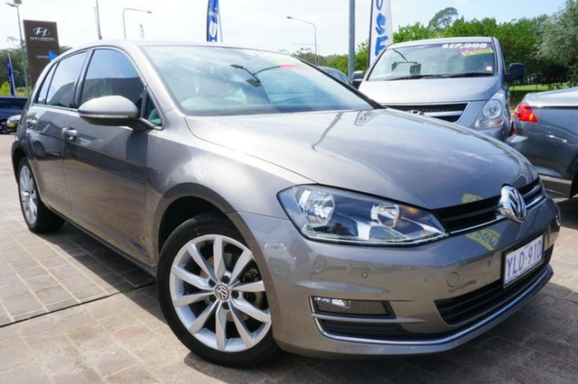 Used Volkswagen Golf VII 103TSI DSG Highline, 2013 Volkswagen Golf VII 103TSI DSG Highline Grey 7 Speed Sports Automatic Dual Clutch Hatchback
