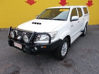 2012 Toyota Hilux KUN26R MY12 SR5 Double Cab White 4 Speed Automatic Utility