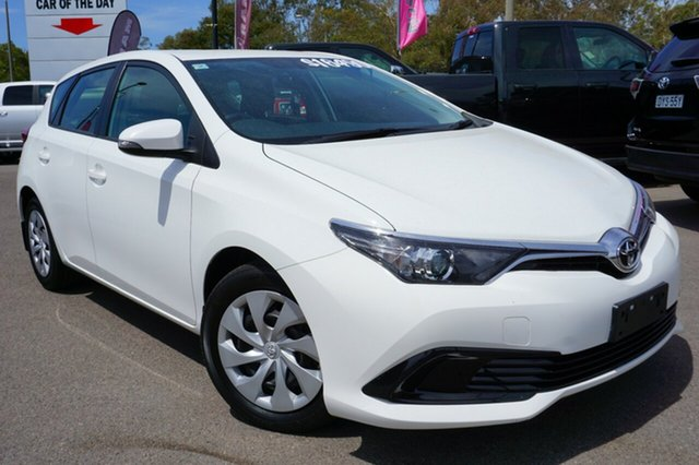 Used Toyota Corolla ZRE182R Ascent S-CVT, 2016 Toyota Corolla ZRE182R Ascent S-CVT White 7 Speed Constant Variable Hatchback