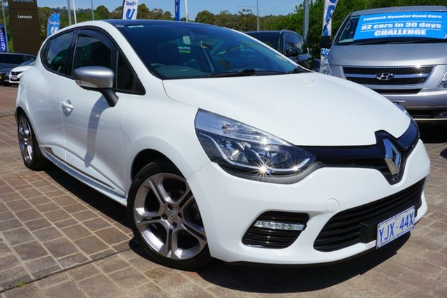 Used Renault Clio IV B98 GT EDC, 2014 Renault Clio IV B98 GT EDC White 6 Speed Sports Automatic Dual Clutch Hatchback