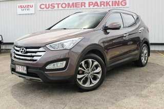 2013 Hyundai Santa Fe DM MY14 Highlander Brown 6 Speed Sports Automatic Wagon.