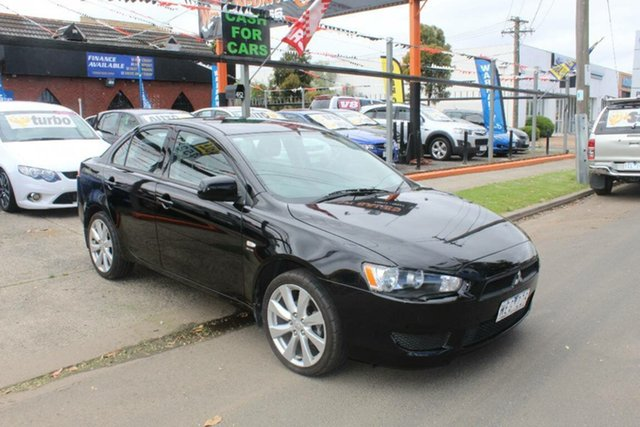 Used Mitsubishi Lancer CJ ES, 2007 Mitsubishi Lancer CJ ES Black 6 Speed CVT Auto Sequential Sedan