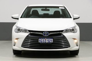 2017 Toyota Camry AVV50R MY16 Altise Hybrid White Continuous Variable Sedan.