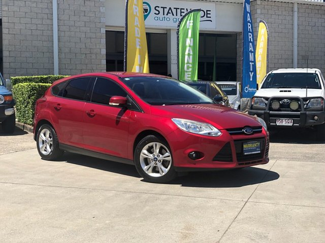 Used Ford Focus LW MKII Trend, 2012 Ford Focus LW MKII Trend Maroon 5 Speed Manual Hatchback