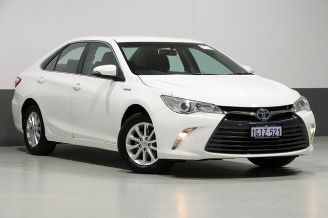 Used Toyota Camry AVV50R MY16 Altise Hybrid, 2017 Toyota Camry AVV50R MY16 Altise Hybrid White Continuous Variable Sedan