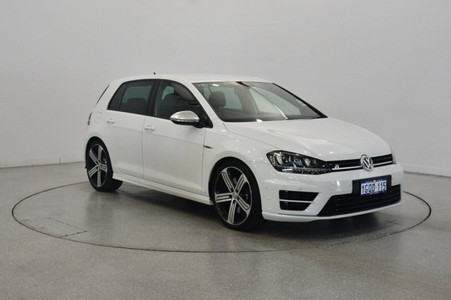 Used Volkswagen Golf VII MY17 R 4MOTION, 2017 Volkswagen Golf VII MY17 R 4MOTION Pure White 6 Speed Manual Hatchback