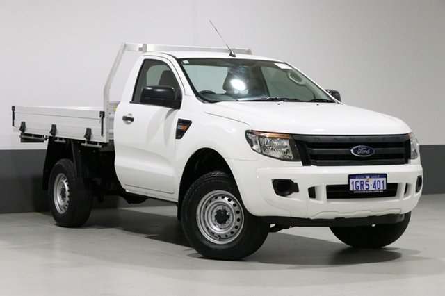 Used Ford Ranger PX XL 2.2 HI-Rider (4x2), 2013 Ford Ranger PX XL 2.2 HI-Rider (4x2) White 6 Speed Manual Cab Chassis