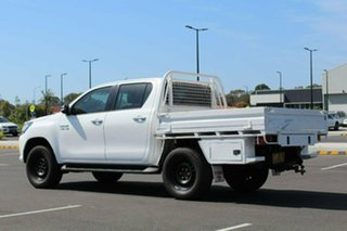 2017 Toyota Hilux GUN126R SR Double Cab White Sports Automatic CAB CHASSIS - DUAL CAB