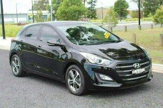 2016 Hyundai i30 GD4 Series 2 Update Active X Black 6 Speed Automatic Hatchback.