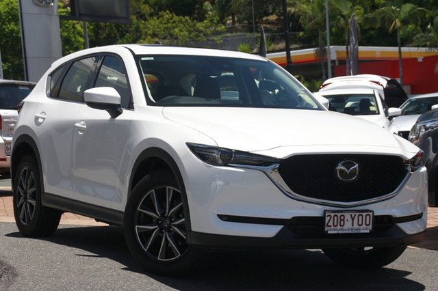 Demo Mazda CX-5 KF4W2A GT SKYACTIV-Drive i-ACTIV AWD, 2018 Mazda CX-5 KF4W2A GT SKYACTIV-Drive i-ACTIV AWD Snowflake White 6 Speed Sports Automatic Wagon